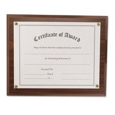 Award-A-Plaque Document Holder, Acrylic/Plastic