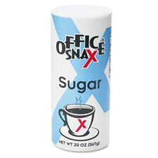 <strong>Office Snax</strong> Reclosable Canister of Sugar (Set of 24)