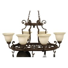 <strong>Craftmade</strong> Riata 8 Light Hanging Pot Rack