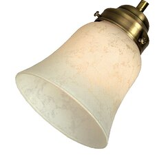 "2.25"" Neck Alabaster Glass Flare Bell Shade"