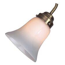 """5.25"""" Frost Opal Glass Bell Ceiling Fan Fitter Shade"""