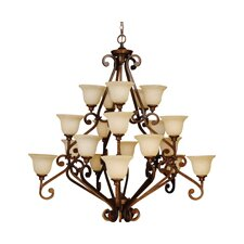 Scroll 20 Light Chandelier
