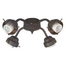 """4.75"""" Four Light Ceiling Fan Light Fitter - Energy Star"""
