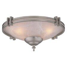 Economy 2 Light Low Profile Ceiling Fan Light Kit
