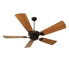 "DC Epic 70"" Ceiling Fan with Premier Hand-Scraped Teak Blades in Oiled Bronze"