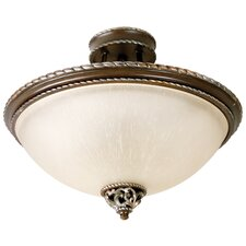 Mia 3 Light Semi Flush Mount