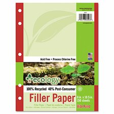 Ecology Filler Paper, 150 Sheets/Pack