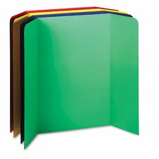 Tri-Fold Presentation Boards, 48 x 36, Assorted Colors, Four Boards