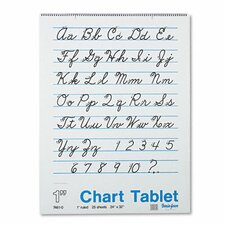 Chart Tablet with Cursive Cover, 25 Sheets/Pad