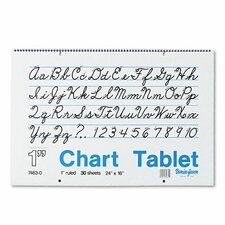 Chart Tablet with Cursive Cove/Pad