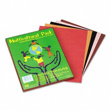 Multicultural Construction Paper, 9 x 12, 10 Skintone Hues, 50 Sheets