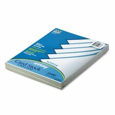 Array Card Stock, 65 lb, White, Letter, 100 Sheets per Pack