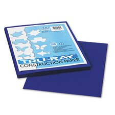Tru-Ray Construction Paper, Sulphite, 9 x 12, Royal Blue, 50 Sheets
