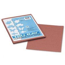 Tru-Ray Construction Paper, 100% Sulphite, 9 x 12, Warm Brown, 50 Sheets