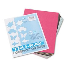 Tru-Ray Construction Paper, Sulphite, 9 x 12, Assorted, 50 Sheets