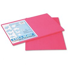 <strong>Pacon Corporation</strong> Tru-Ray Construction Paper, 100% Sulphite, 12 x 18, Light Red, 50 Sheets