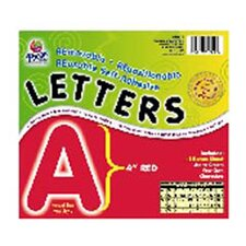 4 Self-adhesive Letters Red