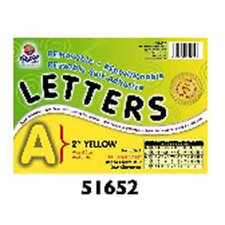 2 Self-adhesive Letters Yellow