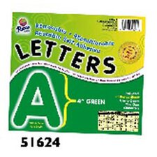 4 Self-adhesive Letters Green
