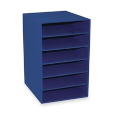 "<strong>Pacon Corporation</strong> 6-Shelf Organizer, 13-1/2""x12""x17-3/4"", Blue"