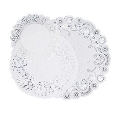 "Paper Doilies, Assorted Sizes 4""/6""/8"", 30 per Pack, White"