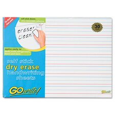 Gowrite Dry Erase Handwriting Sheet, 30/Pack