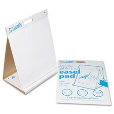 "Gowrite Dry Erase Table Top Easel Pad 2' 4"" x 2' 9"" Whiteboard"