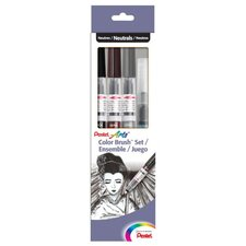 Color Brush Pen Set (Set of 4)