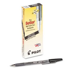 <strong>Pilot Pen Corporation of America</strong> Better Ballpoint Stick Pen, Medium, 12/Pack