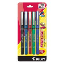 <strong>Pilot Pen Corporation of America</strong> Roller Ball Pen, Nonrefillable, Extra Fine, 5/PK, Assorted
