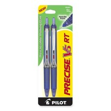 Rollerball Pen,Retract.,Extra Fine Pt.,2/PK,Blue Barrel/Ink
