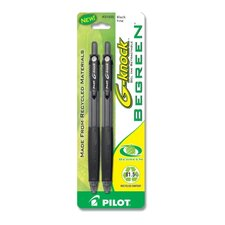 Gel Ink Pen,Retractable,Refillable,Fine Point,2/PK,Black