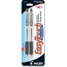 Black Easy Touch Retractable Ball Point Pen (Set of 6)