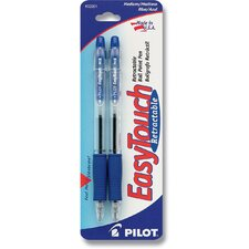 Blue Easy Touch Retractable Ball Point Pen (Set of 6)