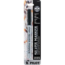 Silver Metallic Extra Fine Point Marker Pen (Set of 6)