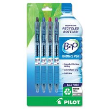 B2P Retractable Ballpoint Pens (Set of 4)