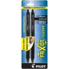 2 Count Gel Erasable and Retractable Pen (Set of 6)