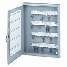 <strong>PM Company</strong> Locking 100-Key Steel Cabinet, 16-1/2w x 3d x 22-1/2h, Gray