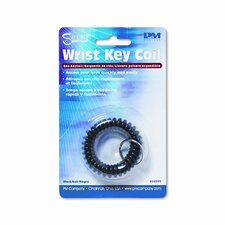 Plastic Coil Key Chain, Black