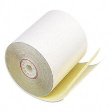 "2-Ply Cash Register/POS Receipt Rolls, 3""w, 90'l, White/Canary, 50/ctn"