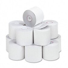 "Two-Ply Calculator Receipt Paper Rolls, 2-1/4""w, 90'l, White, 12/pk"