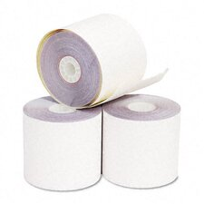 "2-Ply Printer Roll for Verifone 420/460, 2-1/4""w, 70'l, White/Canary, 50/ctn"
