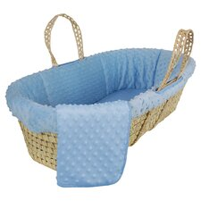 Tadpoles Dimple Velour Moses Basket Set