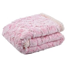 Giraffe Embossed Fur Sherpa Backing Baby Blanket