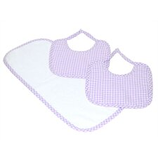 Tadpoles Classics Three Piece Bib & Burp Cloth Gift Set in Lavender