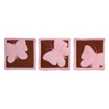 Butterfly Baby Set of 3 Wall Hangings