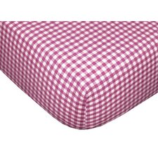 Tadpoles Classic Gingham Fitted Sheet Set in Fuchsia