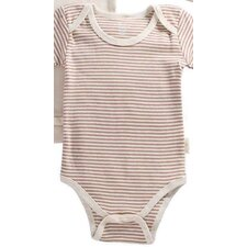 Tadpoles Organic Cotton 2 Piece Pinstripe and Solid Romper Set in Cocoa