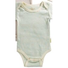 Tadpoles Organic Cotton 2 Piece Pinstripe and Solid Romper Set in Sage
