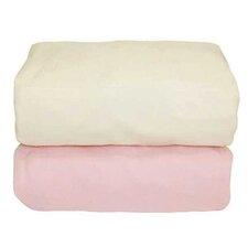 Arlington Organic Flannel Fitted Crib Sheet (Set of 2)